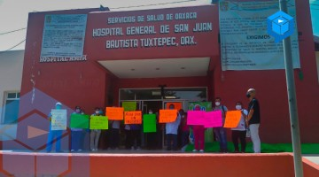 Estalla protesta en el Hospital General de Tuxtepec